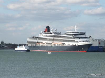 QUEEN ELIZABETH Departing Southampton OCEAN SCENE PDM 10-08-2013 17-48-59