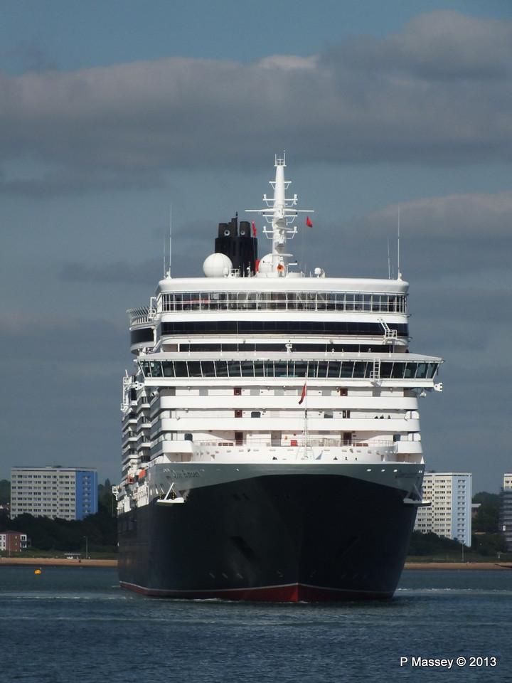 QUEEN ELIZABETH Departs Southampton PDM 09-06-2013 16-53-37