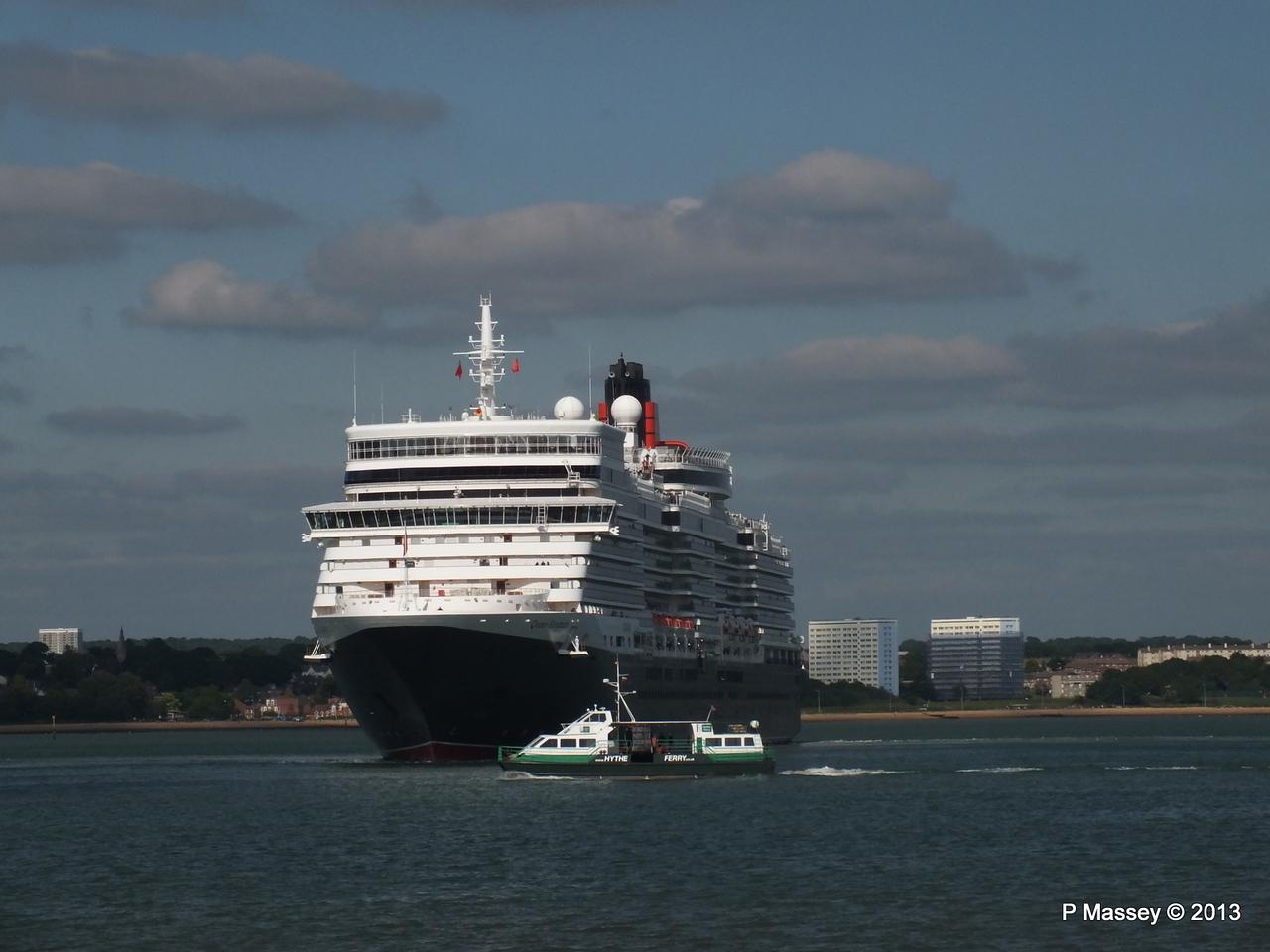 QUEEN ELIZABETH Departs Southampton PDM 09-06-2013 16-53-16