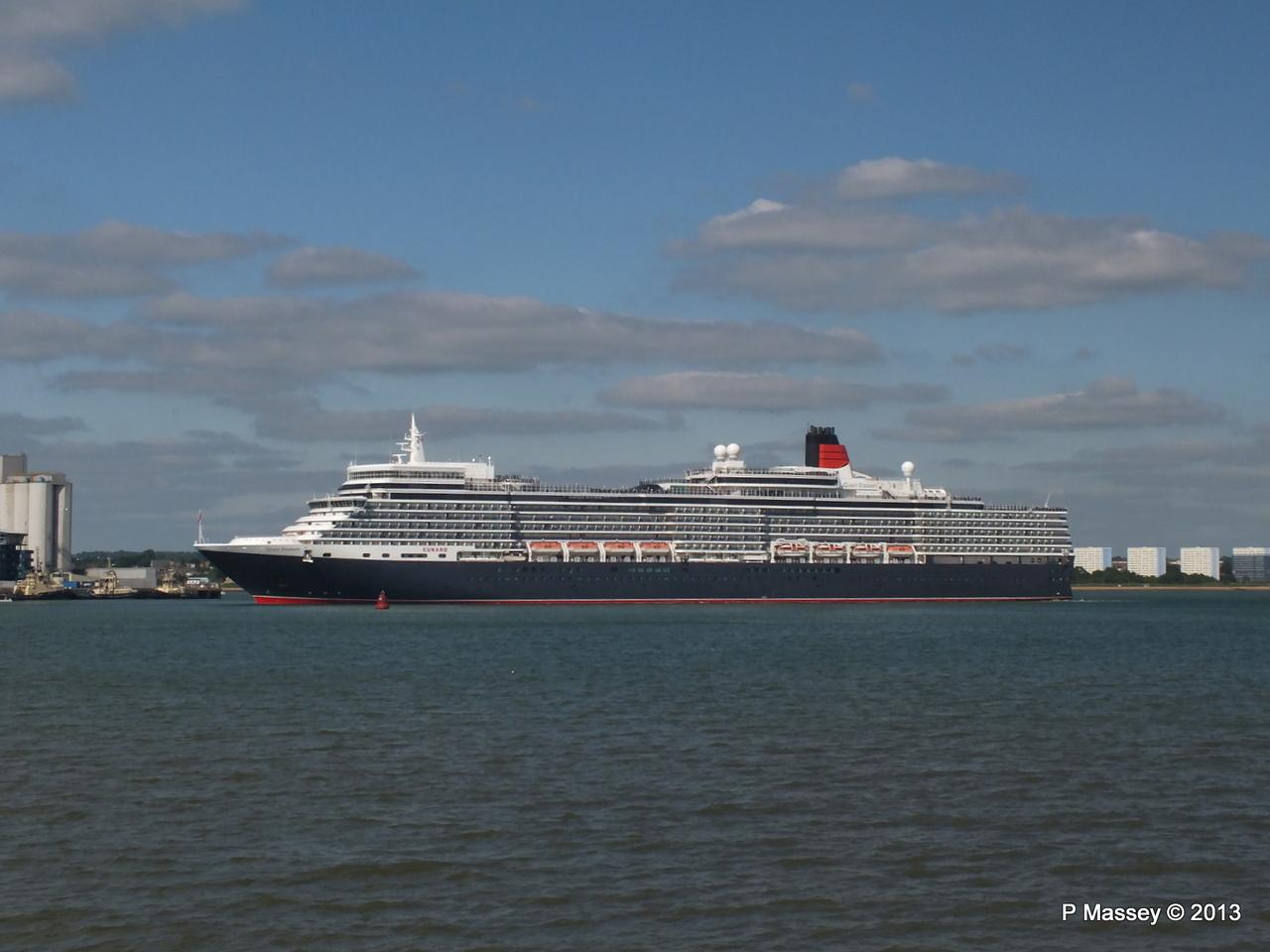 QUEEN ELIZABETH Departs Southampton PDM 09-06-2013 16-50-26