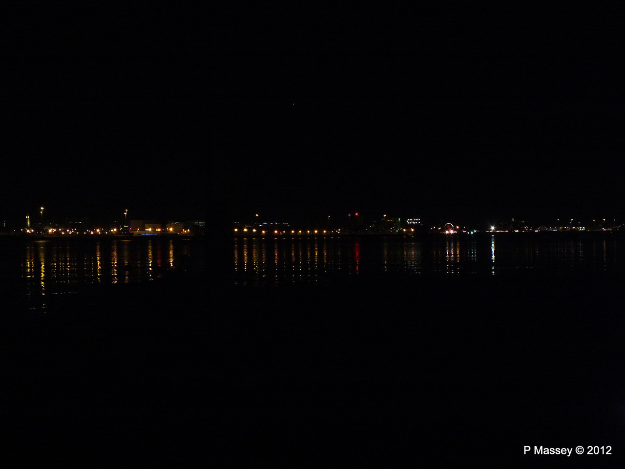 Mayflower Park at night from Marchwood PDM 03-11-2012 20-28-49