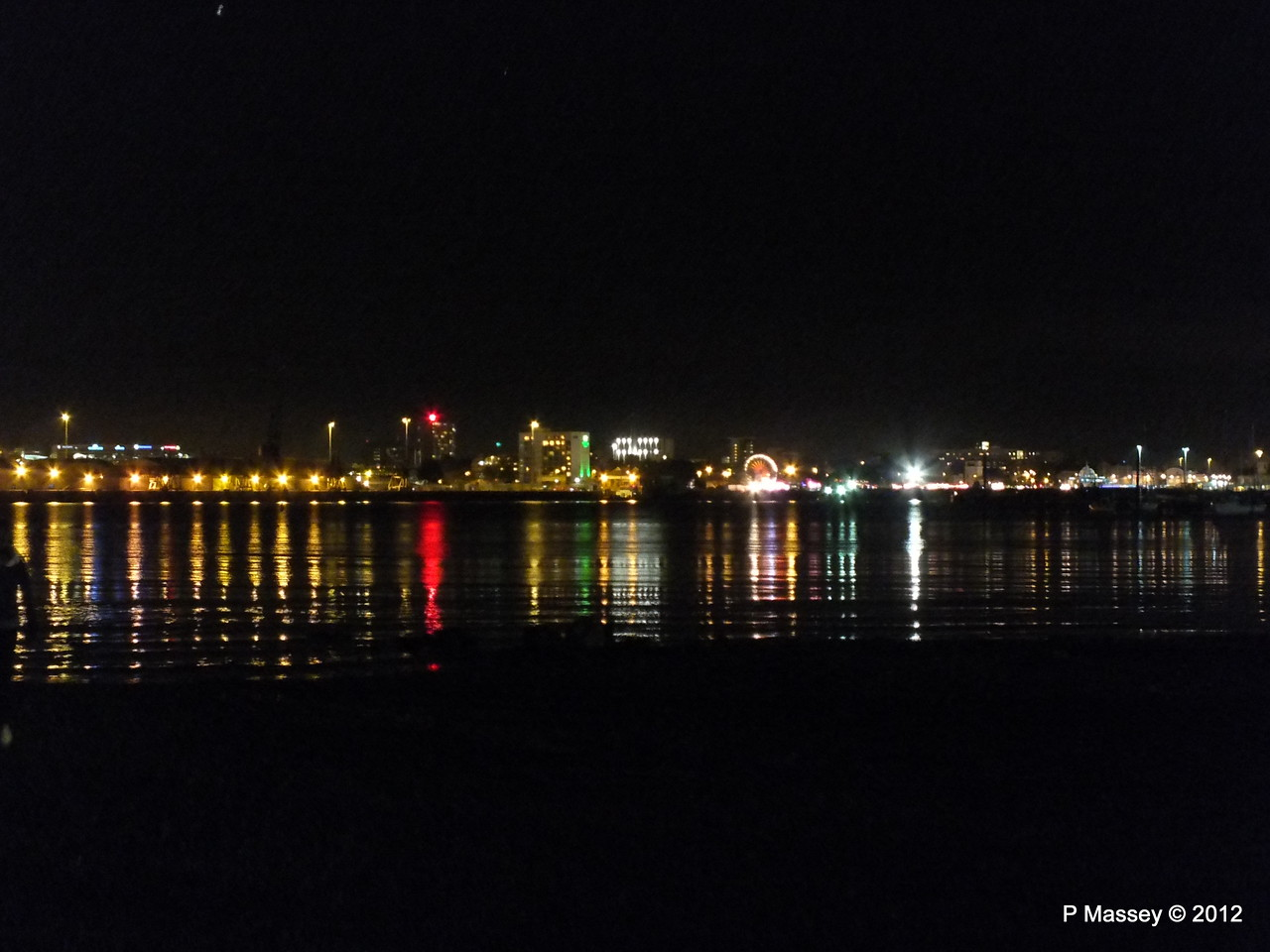 Mayflower Park at night from Marchwood PDM 03-11-2012 20-30-12