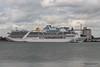 ADONIA Passing CARIBBEAN PRINCESS Southampton PDM 09-05-2015 16-49-22