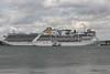 ADONIA Passing CARIBBEAN PRINCESS Southampton PDM 09-05-2015 16-49-32
