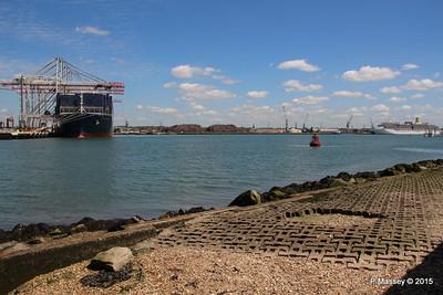 CMA CGM KERGUELEN SEA HUNTER ARCADIA Southampton PDM 13-05-2015 11-46-00