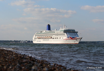 AURORA Passing Calshot Spit in to Solent PDM 16-05-2016 17-43-51