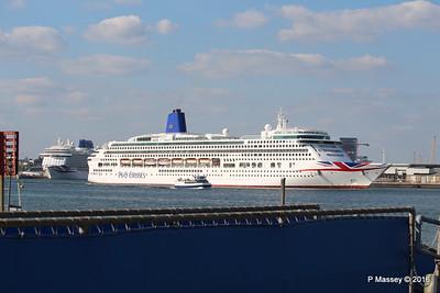 AURORA Departing Passing BRITANNIA Southampton PDM 16-05-2016 17-11-48