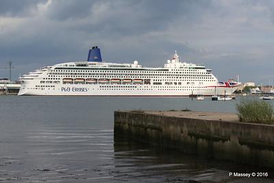 5 Aug 2016 AURORA Departing Southampton