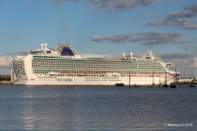 2 Oct 2016 AZURA Departing Southampton