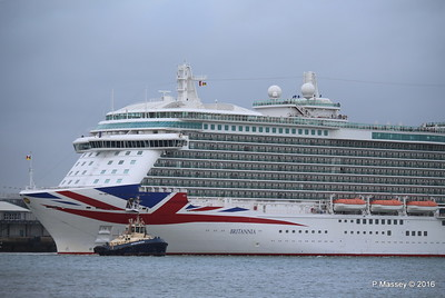 BRITANNIA Departing Southampton PDM 20-08-2016 19-11-11