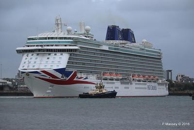 BRITANNIA Departing Southampton PDM 20-08-2016 19-13-54