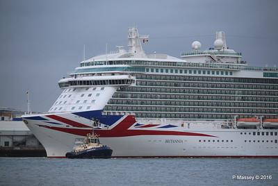 BRITANNIA Departing Southampton PDM 20-08-2016 19-10-00