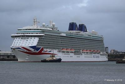 BRITANNIA Departing Southampton PDM 20-08-2016 19-13-36