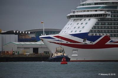 BRITANNIA Departing Southampton PDM 20-08-2016 19-05-17