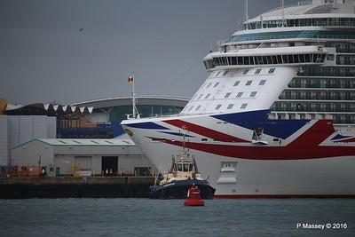 BRITANNIA Departing Southampton PDM 20-08-2016 19-05-21