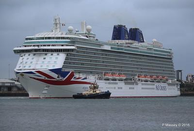 BRITANNIA Departing Southampton PDM 20-08-2016 19-13-45