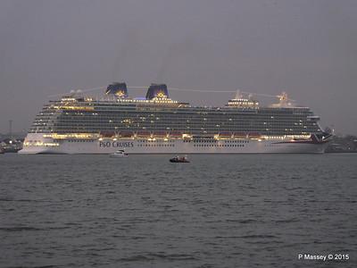 14 Mar 2015 BRITANNIA Maiden Voyage Departure