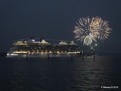 14 Mar 2015 Fireworks BRITANNIA Maiden Voyage Departure