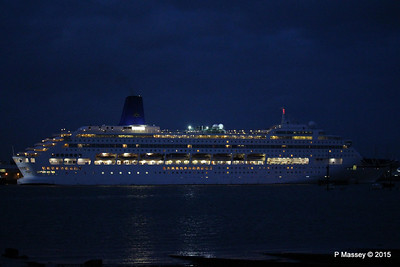 6 May 2015 ORIANA Departing Southampton