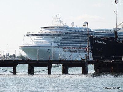 CROWN PRINCESS over Husbands Jetty CARMEL PDM 29-06-2013 17-29-43