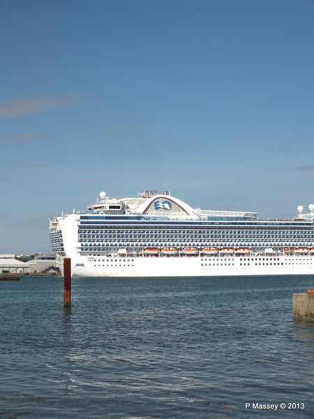 CROWN PRINCESS Departing Southampton PDM 29-06-2013 17-40-23