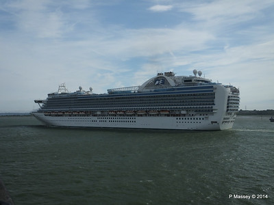 12 Jul 2014 EMERALD PRINCESS Outbound