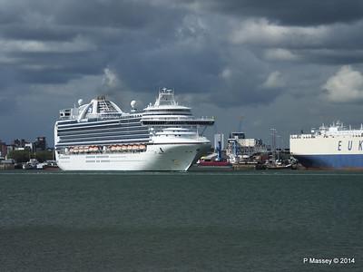 EMERALD PRINCESS Departing Southampton PDM 24-05-2014 16-47-59