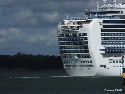 EMERALD PRINCESS Departing Southampton PDM 24-05-2014 16-54-32