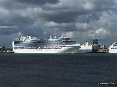 EMERALD PRINCESS Departing Southampton PDM 24-05-2014 16-49-01