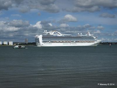 EMERALD PRINCESS Departing Southampton PDM 24-05-2014 16-53-52