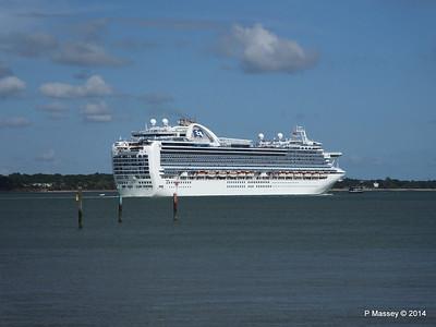 EMERALD PRINCESS Departing Southampton PDM 24-05-2014 16-55-34