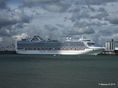EMERALD PRINCESS Departing Southampton PDM 24-05-2014 16-50-43