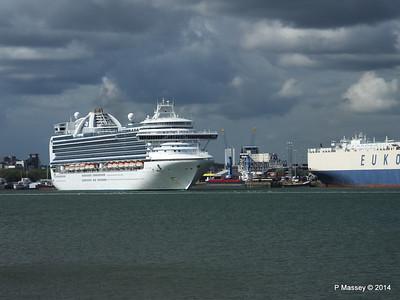 EMERALD PRINCESS Departing Southampton PDM 24-05-2014 16-47-56