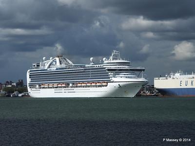 EMERALD PRINCESS Departing Southampton PDM 24-05-2014 16-48-27