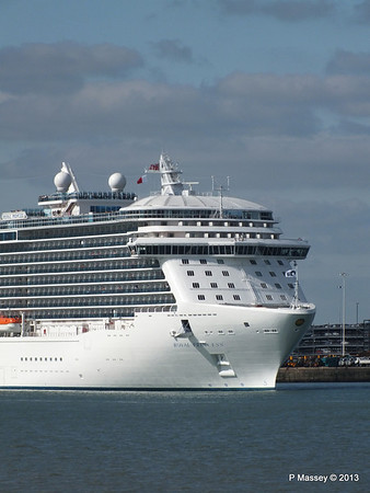ROYAL PRINCESS Departing Southampton PDM 09-06-2013 17-18-14