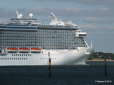 ROYAL PRINCESS Departing Southampton PDM 09-06-2013 17-23-58
