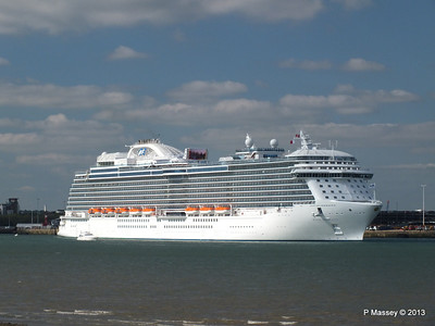 ROYAL PRINCESS 1st Cruise - 9 Jun 13