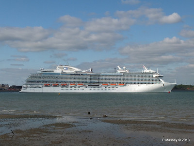 ROYAL PRINCESS Departing Southampton PDM 09-06-2013 17-21-25