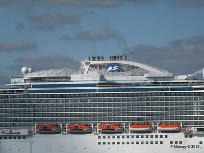 ROYAL PRINCESS Departing Southampton PDM 09-06-2013 17-21-32