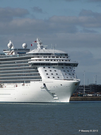 ROYAL PRINCESS Departing Southampton PDM 09-06-2013 17-18-16