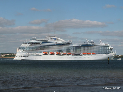 ROYAL PRINCESS Departing Southampton PDM 09-06-2013 17-23-51