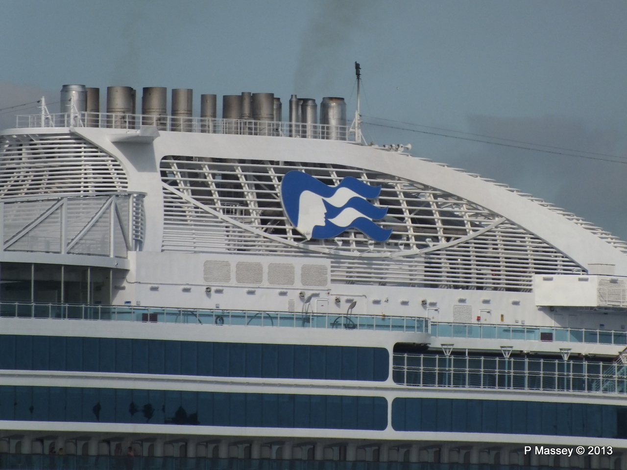 ROYAL PRINCESS Departing Southampton PDM 09-06-2013 17-24-17