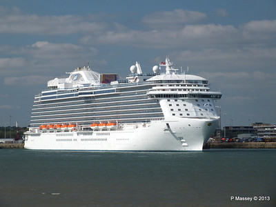 ROYAL PRINCESS Departing Southampton PDM 09-06-2013 17-17-48