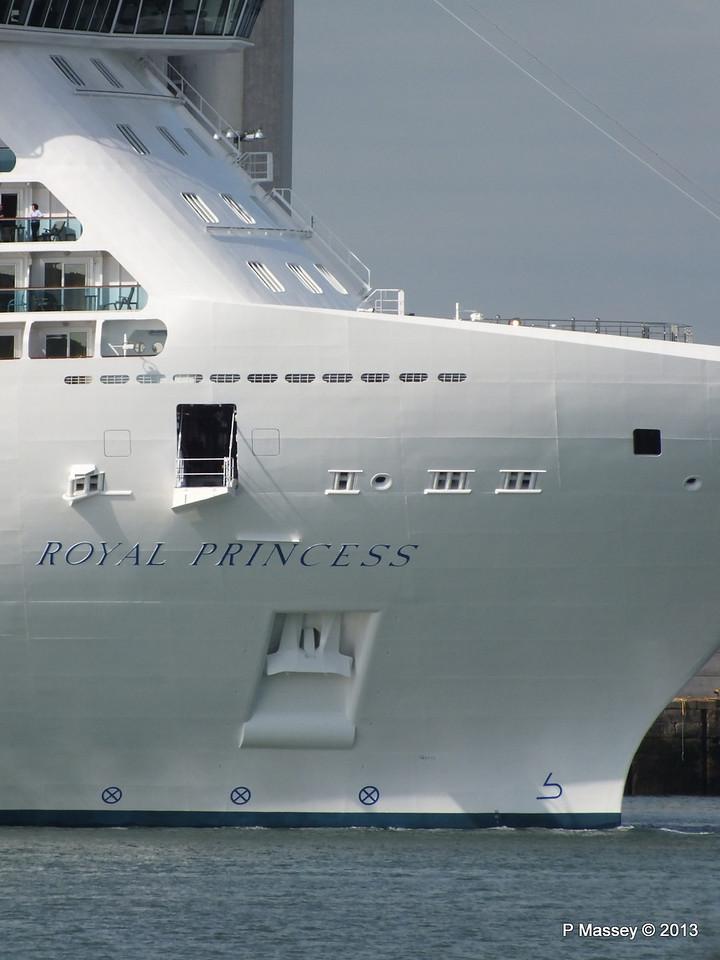 ROYAL PRINCESS Departing Southampton PDM 09-06-2013 17-21-03
