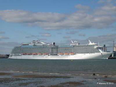 ROYAL PRINCESS Departing Southampton PDM 09-06-2013 17-20-45