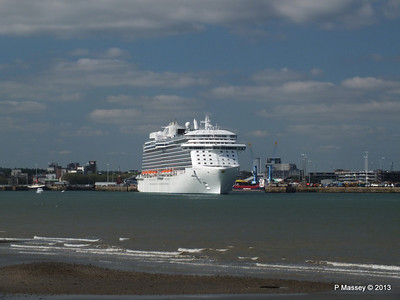 ROYAL PRINCESS Departing Southampton PDM 09-06-2013 17-17-02