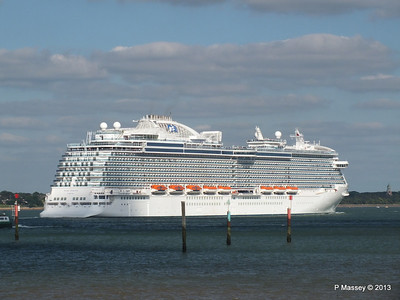 ROYAL PRINCESS Departing Southampton PDM 09-06-2013 17-25-11