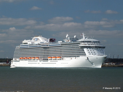ROYAL PRINCESS Departing Southampton PDM 09-06-2013 17-18-22