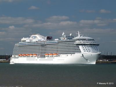 ROYAL PRINCESS Departing Southampton PDM 09-06-2013 17-18-22