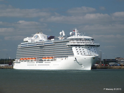ROYAL PRINCESS Departing Southampton PDM 09-06-2013 17-17-45